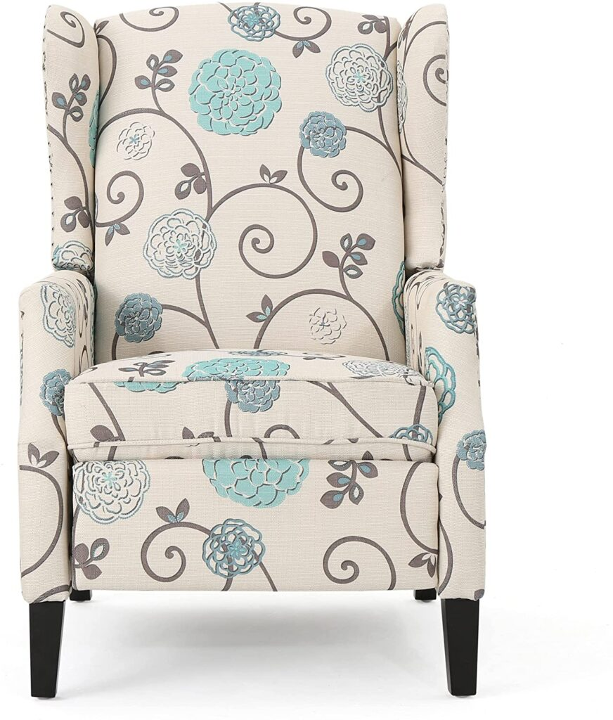 Westeros Traditional Wingback Fabric Recliner Chair
